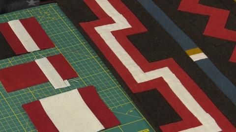 Navajo Blanket Quilt - Castle Wall Border with Anne Baxter