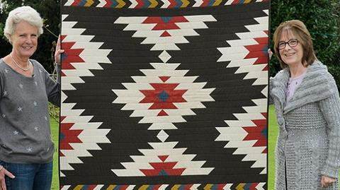 Promo film for Navajo Blanket Quilt designed by Anne Baxter