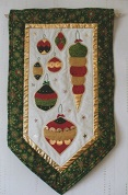 Christmas Baubles wallhanging by The Stitch Witch
