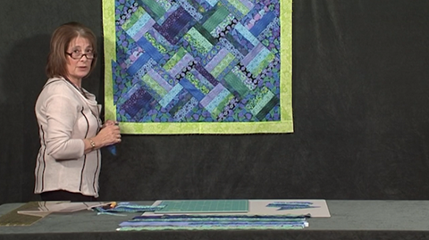 Simple strips & string quilt with Valerie Nesbitt