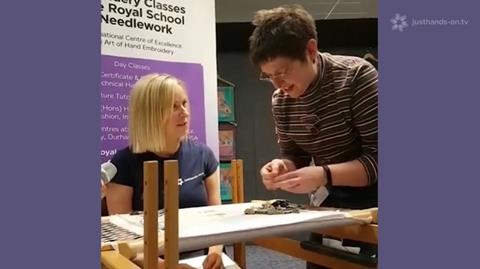 Facebook live with Faye and the Royal School of Needlework