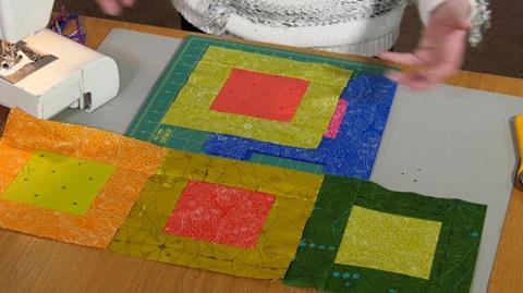 Fast layer cake quilt with Valerie Nesbitt