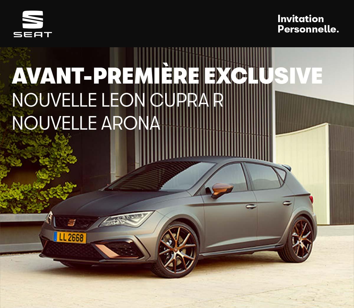 Avant-première exclusive : nouvelle Leon Cupra R et nouvelle Arona
