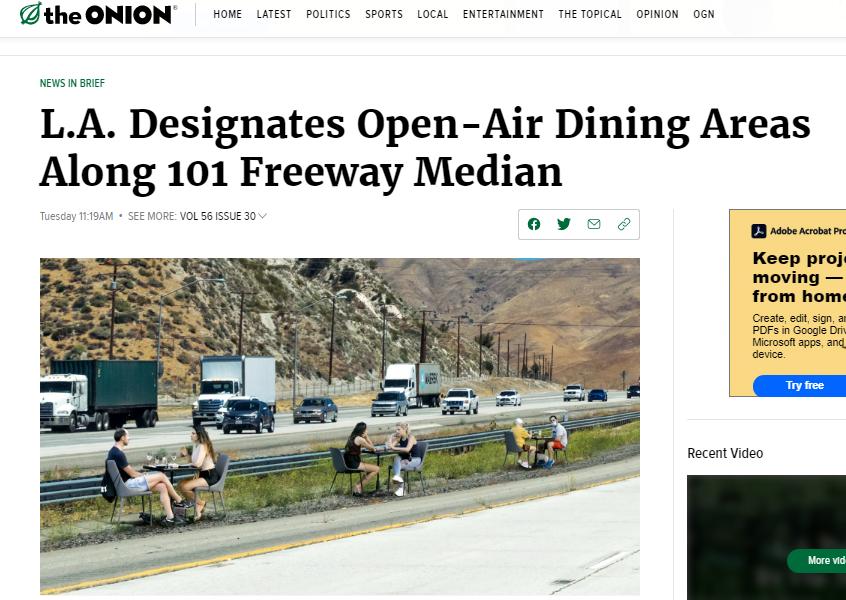 LA freeway median