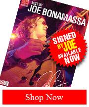 Joe Bonamassa Hand Signed Best of Joe Bonamassa Tab Book