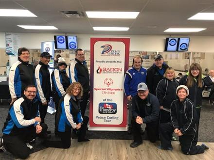 Special Olympics curlers in Peace Curling Tour