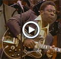 The King of the Blues, B.B. King, performs 'I Believe to My Soul', an original of R&B legend Ray Charles, in Africa circa 1974.