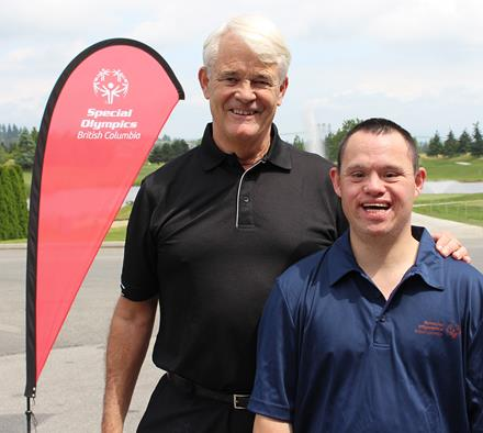 Goldcorp Invitational Chair Michael Campbell and SOBC athlete Scott Fattedad