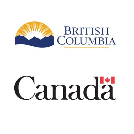 Logos of the Governments of British Columbia and Canada