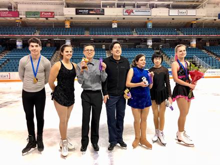 BC Winter Games 2018 figure skaters