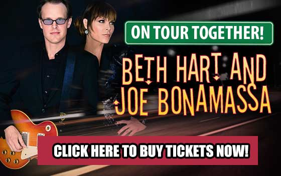 On tour together! Beth Heart and Joe Bonamassa. Click here to buy tickets now!