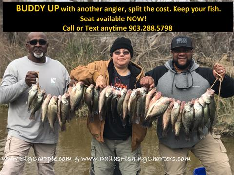Buddy UP with another angler, split the cost of a trip, keep your fish