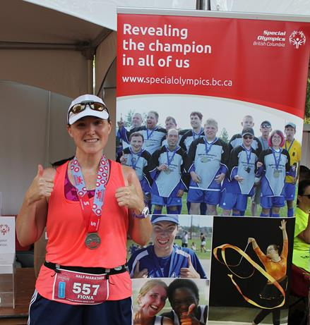 Scotiabank Vancouver Half-Marathon runner Fiona Burrows