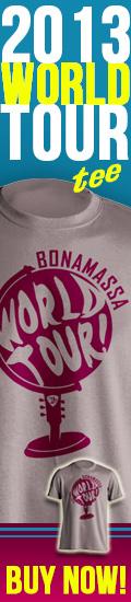Exclusive Joe Bonamassa 2013 World Tour tee! Click here to buy now!