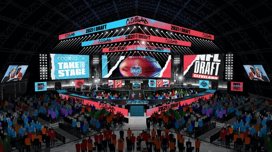 2021 NFL stage in Cleveland, Ohio