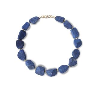lapis chunk necklace
