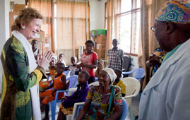 Mary Robinson speaks to survivors of sexual violence in the Democratic Republic of the Congo