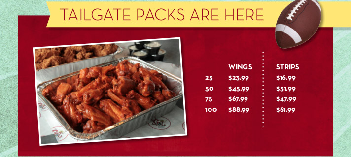Tailgate Packs are Here
